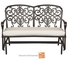 Hampton Bay, Edington Patio Double Glider With Custom Cushion, At The Home  Depot   Mobile