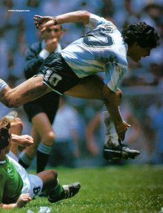 Diego Armando Maradona. Final copa del mundo México 1986. Argentina 3 - Alemania 2.