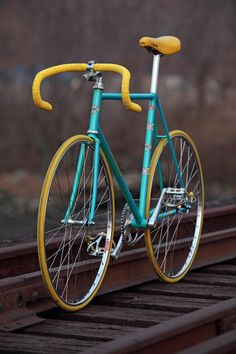 Mustard yellow and Peacock blue bike, colour combination to consider