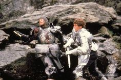 Excalibur publicity still of Nigel Terry & Nicholas Clay