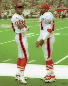 Jerry Rice and Deion Sanders