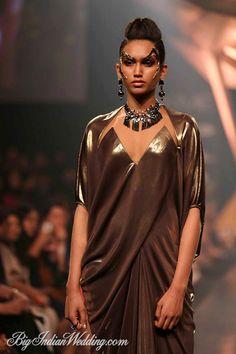 Gaurav Gupta metallic gowns