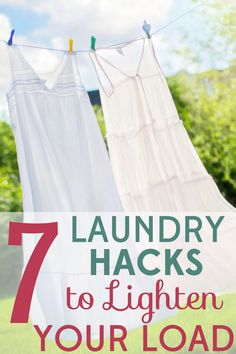 Don't let laundry take over your life! These 7 smart laundry hacks will save you time, money, and energy!
