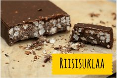 Rice chocolate made by using rice cakes. Gluten free and vegan.