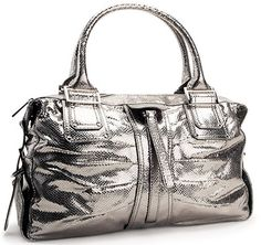 Kooba Ashley pewter metallic handbag