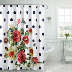 Polyester Fancy Shower Curtain is the perfect way to make a grand statement. The curtain complements any interiors and maintains the artistic value of your bathroom. The fine mix of colors and the high quality material makes this shower curtain a must have for your bathroom decor.