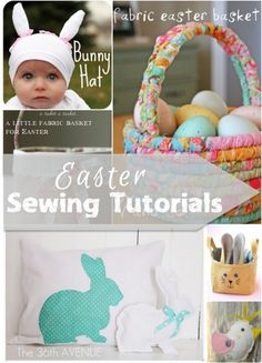 There are so many fun ways to use fabric for Easter sewing projects. Bright or pastel florals and geometrics mix and match Easter and spring decorations.
