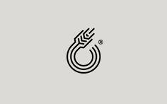 Logos in Black by Chris Trivizas, via Behance