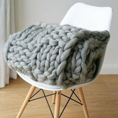 Softly textured, oversized, and inviting - a chunky knit blanket is the home update we never knew we needed. These thick knits bring a splash of contemporary design to any room – use as a throw on your bed, contrast against a wicker chair, or keep on the sofa for the perfect late-night Netflix partner.