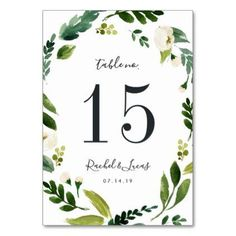 Alabaster | Personalized Table Number Card - spring gifts beautiful diy spring time new year