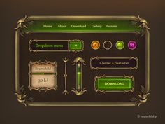 Game GUI - gui set for a game by brainchilds.deviantart.com on @deviantART