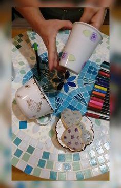 """Sellos Cable A Tierra on Instagram: """"Buenas buenas! . . Hoy con un nuevo #tutorial te enseñamos a sellar sobre porcelana blanca. . . ➡️Pasos * limpia la superficie con alcohol.…"""""""