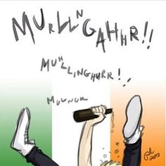 Accurate drawing of Niall when he's in Ireland. I love it.