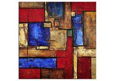 Abstraktes Acrylgemälde von AG: FACETTEN Acrylbild von TheArtmakers, mehr Acrylbilder zum Verkauf unter http://www.kunstplaza.de/online-galerie/