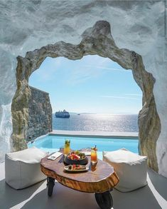 Indulge in a unique experience of the iconic Greek islands, as you sail around the sparkling emerald waters of Greece. Vacation Destinations, Dream Vacations, Santorini, Cavo Tagoo Mykonos, Places To Travel, Places To Go, Greece Islands, Travel Aesthetic, Greece Travel