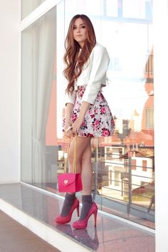 Pink & floral #fashion #style