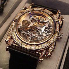 Manufacture Royale Androgyne tourbillon gold case and 52 diamonds ( ). Your next crush ? Amazing Watches, Beautiful Watches, Cool Watches, Rolex Watches, Geek Watches, Wrist Watches, Stylish Watches, Luxury Watches For Men, Tourbillon Watch