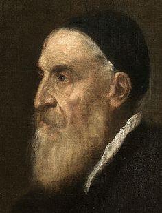 Autorretrato de Tiziano (detalle)
