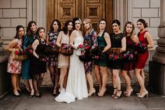 chic Portland wedding with vintage muffs - photo by Dylan and Sara http://ruffledblog.com/chic-portland-wedding-with-vintage-muffs