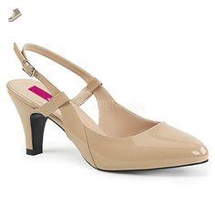 Pleaser Pink Label Women's Div418/Cr Dress Pump, Cream Patent, 16 M US - Pleaser pumps for women (*Amazon Partner-Link)