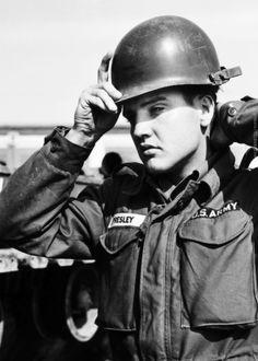 Elvis Presley -  photographed by Robert Lebeck, Friedberg, Germany 1958