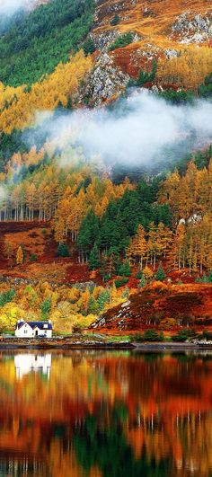 Mind Blowing Photos Of Scotland Gorgeous autumn colors in the Highlands. Oh what I would give to live in that house! Click through to see 28 mind blowing photos of Scotland. autumn colors in the Highlands. Oh what I would give to live in that hou All Nature, Amazing Nature, Beautiful World, Beautiful Places, Beautiful Scenery, Mind Blowing Pictures, Places To Travel, Places To Go, Autumn Scenery