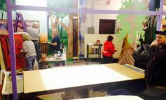 "The MZ Artist Guild hard at work making ""Into the Woods"" set...great job so far!"