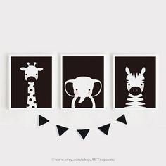 Baby Room Art, Kids Room Wall Art, Nursery Wall Art, Church Nursery Decor, Room Decor, Monochrome Nursery, Inka, Kunst Poster, Black And White Wall Art
