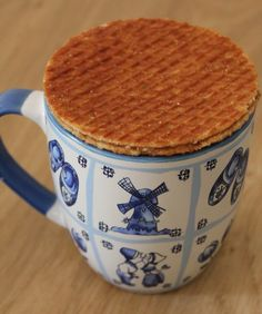 stroopwafel warming over a beautiful cup of coffee :)