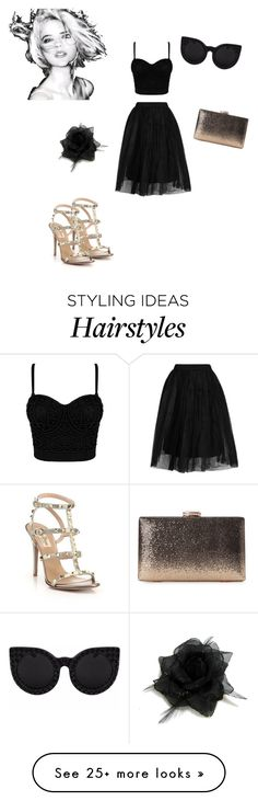 """""""✖️"""" by hibaezzarouali on Polyvore featuring Topshop, Valentino and Delalle"""