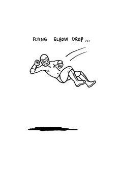 flying elbow drop