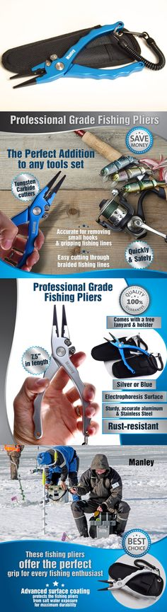 Pliers and Hook Removers 179997: Manley Professional Saltwater Fishing Pliers - 7.5 Anodized Aluminum -> BUY IT NOW ONLY: $40.99 on eBay!