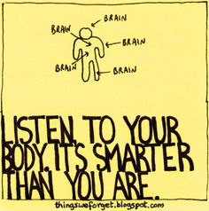 Listening to your body!