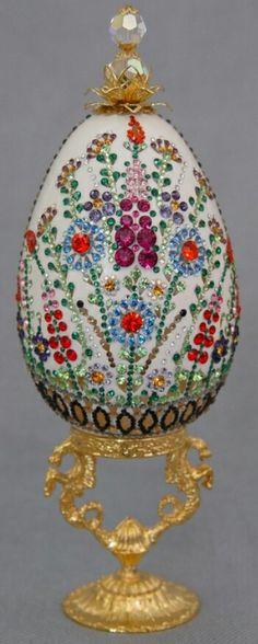 Rhinestones egg art.