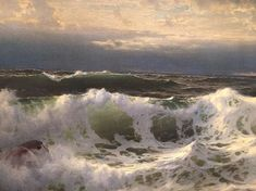 William Trost Richards All Art, Masters, Waves, Study, Artists, Mountains, Nature, Painting, Outdoor
