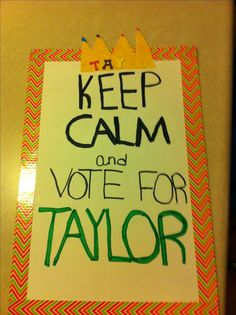 Student Council poster ideas-like the duck tape border around poster