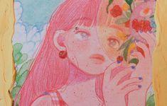 Aesthetic Art, Aesthetic Anime, Character Illustration, Illustration Art, Art Sketches, Art Drawings, Aya Takano, Kawaii Art, Pretty Art