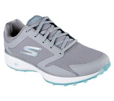 In the market for new golf shoes? Lori's Gold Shoppe carries a selection of cool stylish golf shoes for women. Check this one out --> Charcoal/Blue CLEARANCE Skechers Ladies Go Golf Shoes Spikeless Golf Shoes, Womens Golf Shoes, Golf Bags For Sale, Golf Club Grips, Best Golf Clubs, Play Golf, Golf Outfit, Ladies Golf, Women Golf