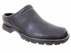 COLE HAAN Country Black Leather Waterproof Mules Red Dot Soles Size 5 B  #ColeHaan #Slides