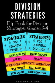 These division strategies help your students learn how to fluently divide. Learn the strategies and a fun manipulative you could use for reference. #mathwithraven School Resources, Math Activities, Teacher Resources, Division Strategies, Common Core Math Standards, Math School, Fact Families, Third Grade Math, Homeschool Math