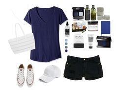 """""""Untitled #45"""" by enjolras1832 ❤ liked on Polyvore featuring Frame Denim, Converse, LAmade, BUCO, AMBRE, Fig+Yarrow, Little Barn Apothecary, Smythson, Herbivore and Terre Mère"""