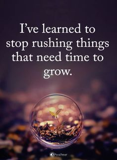 Stop rushing things. Great Quotes, Quotes To Live By, Me Quotes, Motivational Quotes, Inspirational Quotes, Rush Quotes, Strong Quotes, Meaningful Quotes, True Words