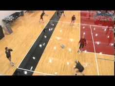 "Become a Better Passer with the ""Russian Passing Drill"" - amalia Volleyball Training, Volleyball Passing Drills, Volleyball Gifs, Volleyball Skills, Volleyball Practice, Volleyball Workouts, Volleyball Mom, Coaching Volleyball, Basketball Drills"
