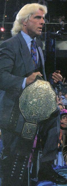 WCW World Heavyweight Champion Ric Flair