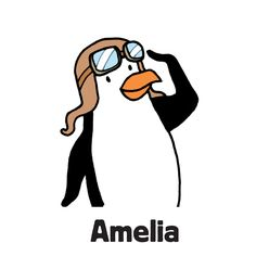 """Amelia is one of the family of penguins to find in """"Zoo Escape"""", one of the search-and-find jigsaw puzzles I'm offering on Kickstarter. The image first appeared in my book """"Where's the Penguin?"""". Follow the link for more info.  #searchandfind #jigsawpuzzle #jigsaw #puzzle #childrensbook #kidlit #wheresthe #seekandfind #cartoon #cartoonart #seekandfind  #zoo #animals #penguin #amelia #aviator"""