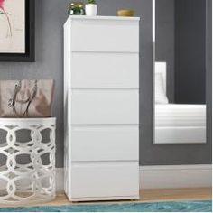 Special Deal Karev 5 Drawer Lingerie chest By Zipcode Design Narrow Dresser, Chest Dresser, 5 Drawer Chest, Dresser Drawers, Chest Of Drawers, Dressers, Bedroom Storage, Bedroom Sets, Bedroom Wall