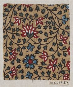 Printed and painted cotton, India, mid 19th - early 20th c.