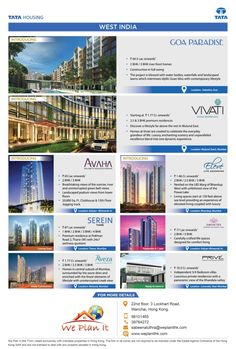 Properties in West India for Investment - We Plan It - Hong Kong Check #Properties of West India (#Mumbai and #Goa) from the India's leading #RealEstateDevelopers.  For details on the luxury properties visit: https://www.weplanithk.com or call + 852-98101465 We Plan It - Hong Kong - We are #RealEstate Advisory in #HongKong For #IndianProperty.
