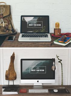 2 Hip Desktop Mock-ups - download freebie by PixelBuddha