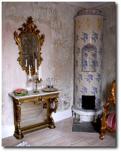 Blue and White Stove